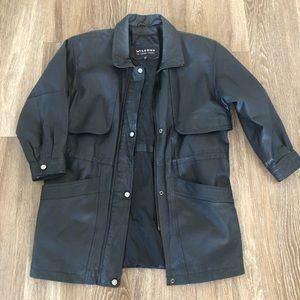 Wilsons Leather Hip Length Storm Flaps Zipper